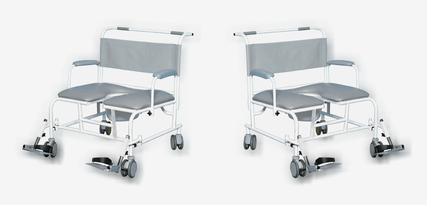 350KG BARIATRIC SHOWER COMMODE CHAIR